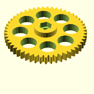 Extruder large gear